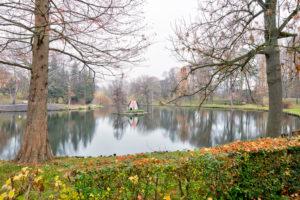 Moat, Schwanenhaus, Autumn, Winter, Wolfenbüttel, Lower Saxony, Germany, Europe