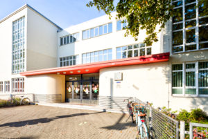 Old Town Elementary School, Glass School, Bauhaus, Architecture, Otto Haesler, House View, Autumn, Celle, Lower Saxony, Germany, Europe