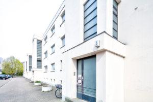 St. Georg Garten, Bauhaus, Baudenkmal,  Architektur, OttoHaesler,  Herbst, Celle, Niedersachsen, Deutschland, Europa