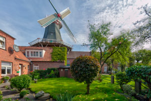 Westgaster Mühle, Architecture, North dike, North, North Sea, Wadden Sea, East Frisia, Lower Saxony,