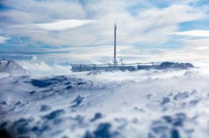 Winter, Wasserkuppe, Frost, Schnee, Verwehungen, Rhön, Hessen, Deutschland, Europa,