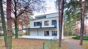 Masters' Houses, Kandinsky, Klee, Bauhaus, Dessau-Roßlau, Saxony-Anhalt, Germany, architecture, house view,