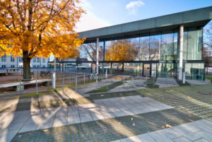 Mensa, Bauhausgebäude Dessau, Bauhaus, Dessau-Roßlau, Sachsen-Anhalt, Deutschland, Architektur, Hausansicht,