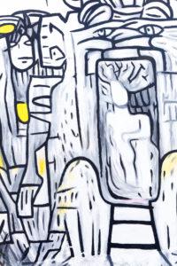 East Side Gallery, wall painting, graffiti of former Berlin Wall, Friedrichshain, Berlin, Germany