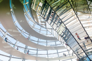 Reichstag dome, inside, visitor, Reichstag, Bundestag, government district, Berlin, Germany