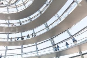 Reichstagkuppel, innen, Besucher,  Reichstag, Bundestag,  Regierungsviertel,  Berlin, Deutschland