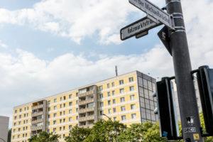 Hausfassade, East Side, Friedrichshain, Berlin, Deutschland