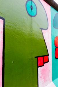 East Side Gallery, Wandmalerei, Graffiti ehemalige Berliner Mauer, Friedrichshain, Berlin, Deutschland