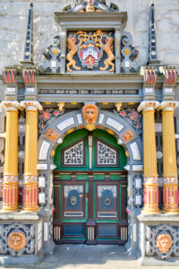 House facade, town hall, Weser Renaissance, front side, old town, Hann. Münden, Lower Saxony, Germany, Europe
