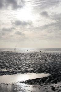 Wattenmeer, Abend, Dämmerung, blaue Stunde,  Norddeich, Norden, Nordsee, Ostfriesland, Niedersachsen, Deutschland,