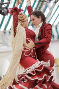 Tanz, Wettbewerb, Tracht, Casetas, Festzelte, La Feria de Primavera, Fest,Tradition, Kultur, Brauchtum, El Puerto de Santa Maria, Andalusien,