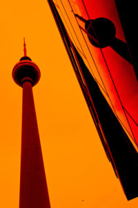 Alexanderplatz, Berlin-Mitte, reflection of the Berlin TV Tower