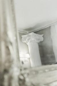 Achilleion, Korfu, Spiegel mit sich spiegelnder Säule