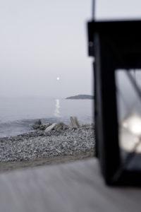 Korfu, Griechenland, Stimmung am Meer, Abend