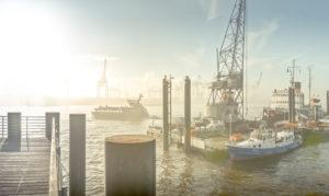 Germany, Hamburg, harbour, the Elbe, museum harbour, Övelgönne