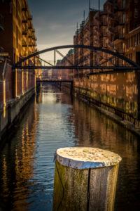 Germany, Hamburg, Speicherstadt, canal, Kehrwiederfleet