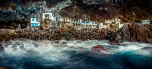 Spanien, Kanaren, La Palma, Häuser, Höhle, Poris de Candelaria, Tijarafe, Piratenbucht