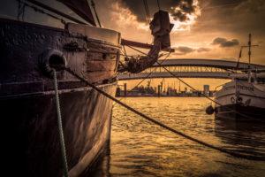 Deutschland, Hamburg, Hafen, Yachthafen, Elbe, Segelschiff