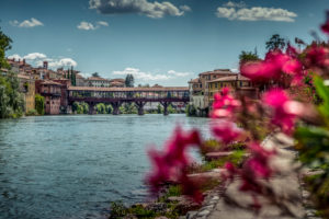 Italy, South Tirol, Veneto, Bassano del Grappa, Brenta, bridge, wooden bridge, Ponte degli Alpini