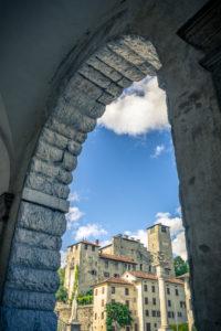 Italy, South Tirol, the Dolomites, Feltre, Piazza Maggiore