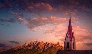 Italy, South Tirol, the Dolomites, Toblach (municipality), Aufkirchen