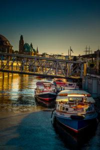 Deutschland, Hamburg, Elbe, Hafen, Landungsbrücken, Barkasse
