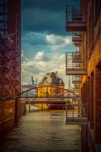 Deutschland, Hamburg, Elbe, Hafen, Speicherstadt, Fassaden, Balkone,