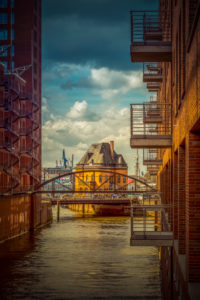 Germany, Hamburg, Elbe, the port, Speicherstadt, facades, balconies,