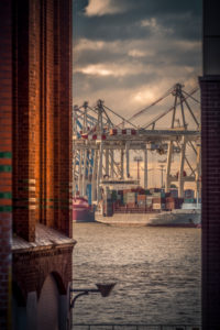 Germany, Hamburg, Elbe, harbor, St. Pauli, fish market, Great place, Container Terminal