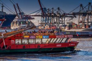 Deutschland, Hamburg, Elbe, Hafen,St. Pauli, Fischmarkt, Containerterminal, Toller Ort
