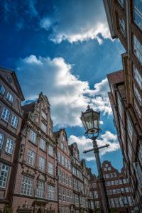 Germany, Hamburg, Gängeviertel (district), half-timbered houses, Peterstraße (street)
