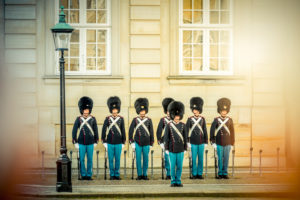 Europa, Dänemark, Kopenhagen, Schloss, Amalienborg, Wache, königliche Wache, Garde