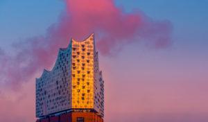 Germany, Hamburg, the Elbe, harbour, St Pauli, landing stages, hafencity, Elbphilharmonie