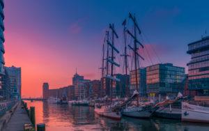 Deutschland, Hamburg, Elbe, Hafen, Hafencity, Segelschiffe