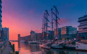 Germany, Hamburg, the Elbe, harbour, hafencity, sailing ships