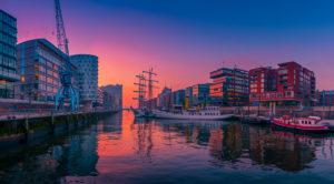 Germany, Hamburg, the Elbe, harbour, hafencity, ships