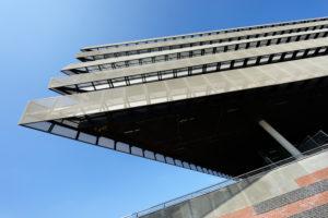Hafencity-Universität an der Überseeallee in der Hafencity von Hamburg, Deutschland, Europa