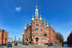 Speicherstadt-Rathaus Bei St. Annen in der Speicherstadt von Hamburg, Deutschland, Europa