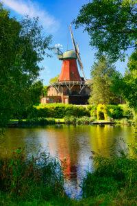 Reitbrooker mill in Reitbrook, Vier- und Marschlande, Hamburg, Germany, Europe
