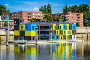 Germany, Hamburg, Veddel, IBA dock