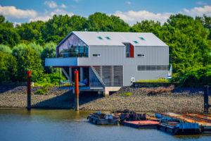 Germany, Hamburg, Veddel, 'Die Mügge', Haus der Projekte (house of projects),