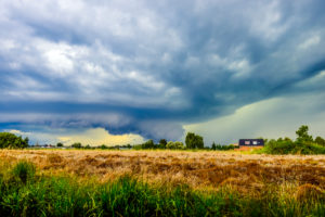 Germany, Hamburg, Kirchwerder, thunderclouds, storm