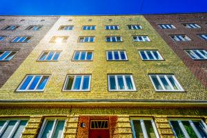 Germany, Hamburg, Veddel, 'Goldhaus' (golden house) piece of art, Boran Burchhardt