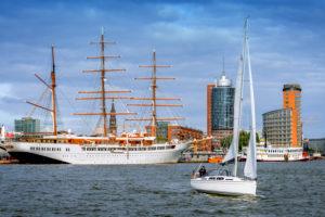 Germany, Hamburg, Hamburg Harbor, Cruise Ship, Sailing Ship, Sea Cloud II