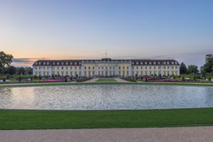 Germany, Baden-Württemberg, Ludwigsburg, Ludwigsburg Palace in the evening
