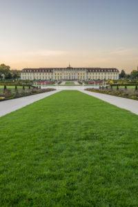 Deutschland, Baden-Württemberg, Ludwigsburg, Schloss Ludwigsburg am Abend