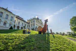 Deutschland, Baden-Württemberg, Ludwigsburg, Schloss Ludwigsburg, Drache aus Kürbis