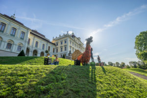 Germany, Baden-Wurttemberg, Ludwigsburg, Ludwigsburg Castle, Dragon Pumpkin