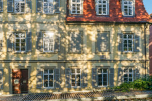 Germany, Baden-Wuerttemberg, Ludwigsburg, former house (Maucler'sches Haus) of Friedrich Schiller