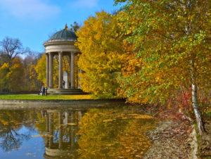 Apollo temple, autumn, Germany, Bavaria, Upper Bavaria, Munich, Nymphenburger Palace garden,